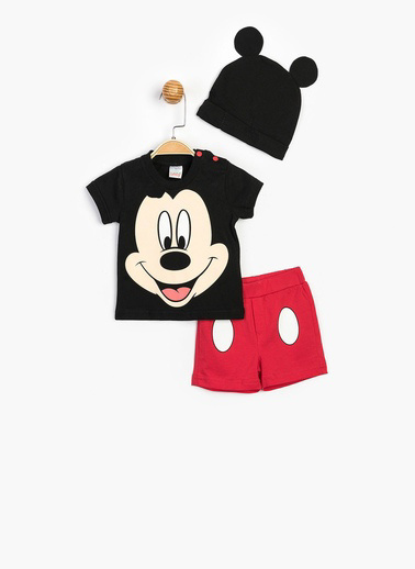 Mickey Mouse 2 li Takım Siyah